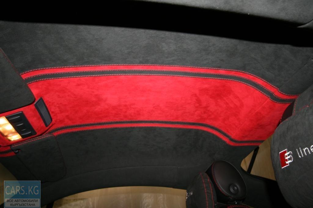 Перетяжка потолка авто тканью